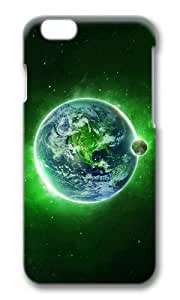 MOKSHOP Adorable Green Dream Space Hard Case Protective Shell Cell Phone Cover For Apple Iphone 6 Plus (5.5 Inch) - PC 3D