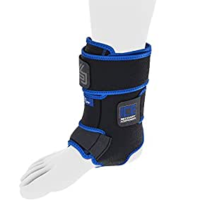 Shock Doctor Performance Sports Ice Recovery Ankle Compression Cold Therapy Wrap