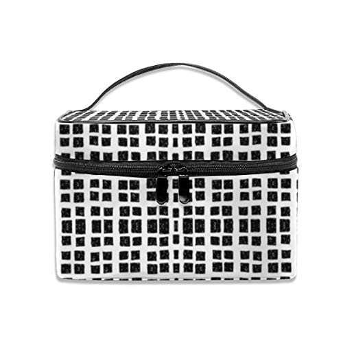 Doodle Blocks Wallpaper (5130) Travel Makeup Bag Cosmetic Cases Organizer Portable Storage Bag for Cosmetics Makeup Brushes Toiletry Travel Accessories