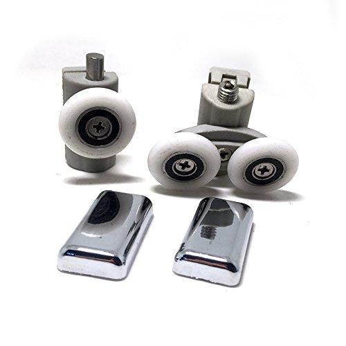 Lot de 8roulettes pour porte de douche simple/coureurs/roues/poulies/guides 25mm Diamètre salle de bain maison DIY...