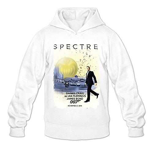 [MARY Men's November 6 2015 007 Spectre Costume Hoodies White] (M James Bond Costume)