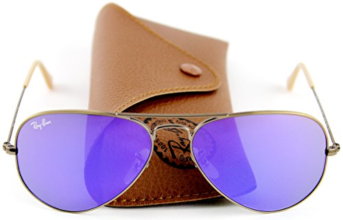 Ray-Ban RB3025 167/1M Sunglasses Bronze-Copper Frame / Violet Mirror Lens - Ray Purple Bans