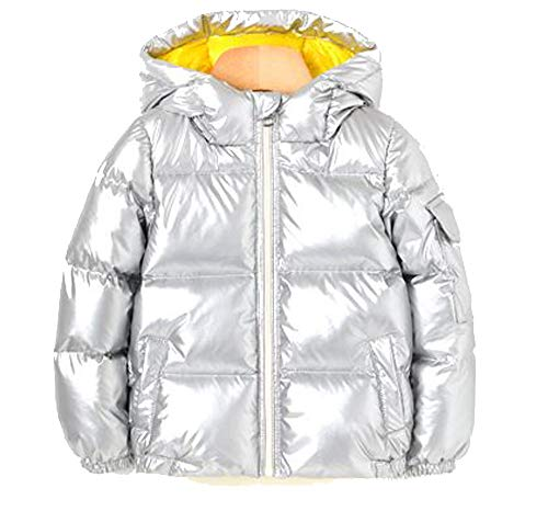 - Ozkiz Wimpi Padding Unisex Little Girls and Boys 51% Duck Down Warm and Shiny Silver Waterproof Winter Jacket with Two Tone Colors