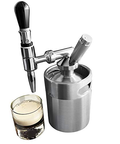 Lymor Nitro Cold Brew Coffee Maker 64 Ounce Mini Stainless Steel Homebrew Coffee Keg System Kit, Best Friend Gifts for Coffee Lovers (Coffee Kit)