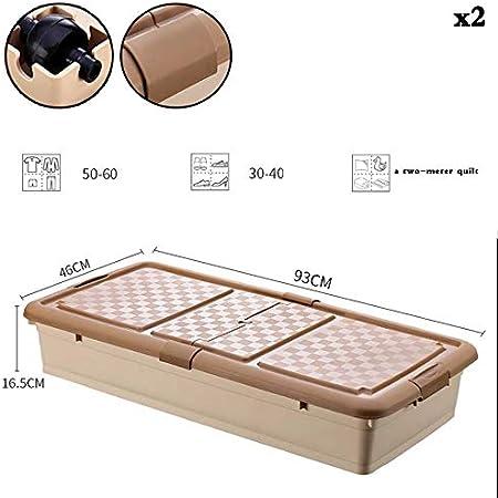 Caja de almacenamiento debajo de la cama con ruedas KEKET1 Con clips Cajas de almacenamiento de