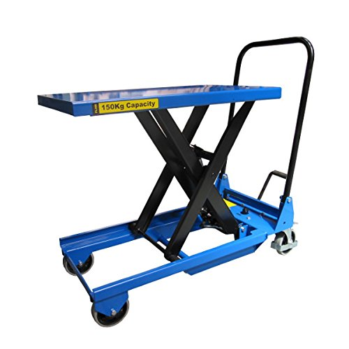 Pake Handling Tools - Low Profile Light Weight Scissor Lift Table, 330 lbs, 30 X 18'' Platform Size by Pake Handling Tools