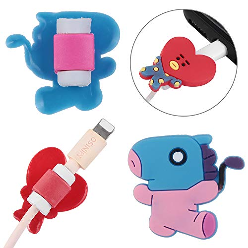 Data Line Cover Charging Cable Bite Kpop Bangtan Boys BT21 Cute Phone Charge Cable Conector Protector TATA Cooky Van (RJ) by maxgoods (Image #1)