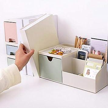 Inconpro Desktop Contenitore Mini Scatola Pen Holder Porta Oggetti Scrivania Portapenne Organizer Da Scrivania Secchio Pennello Trucco Con Cassetto Piccolo