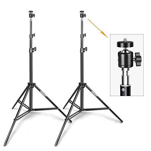 Emart 6.2ft VR Gaming Stand with Adjustable Vive Mini Ball Head for Video, HTC Vive VR, Portrait, Product Photography, etc. (2 Pack) (Aluminum Mini Kit Stand)