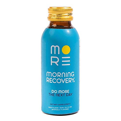 Morning Recovery Drink V2, Liver Detox and Electrolyte Supplement with Dihydromyricetin (DHM), N-Acetyl cysteine (NAC), Milk Thistle, B6 & B12, 3.4 fl oz (Vegan, Caffeine-Free, Non-GMO) (Pack of 6)
