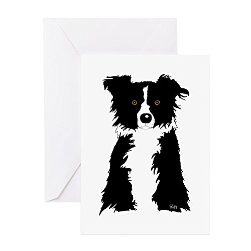 Border Collie Note (CafePress - Border Collie - Greeting Card, Note Card, Birthday Card, Blank Inside Matte)