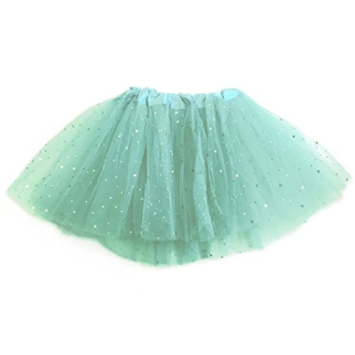 Runners Premium Tutu by Gone For a Run | Lightweight | One Size Fits Most | Colorful Running Skirts | Teal Sparkle (Princess Running Outfits)