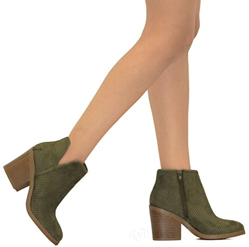Women MVE Isu t Ankle Khaki Bootie Shoes Casual 66rnqZ485