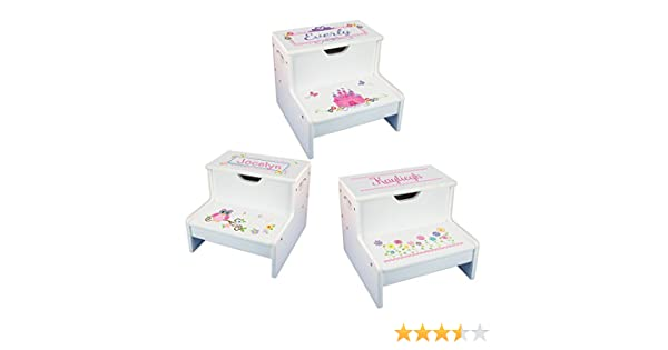 Astonishing Girls Personalized Step Stool With Storage Pdpeps Interior Chair Design Pdpepsorg