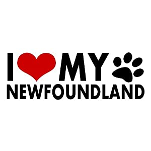Newfoundland I Love My Dogs Sticker Heart Puppy Pet Cute Animals Decal Vinyl Bumper DÉCOR CAR Truck Locker Window Wall Notebook 11