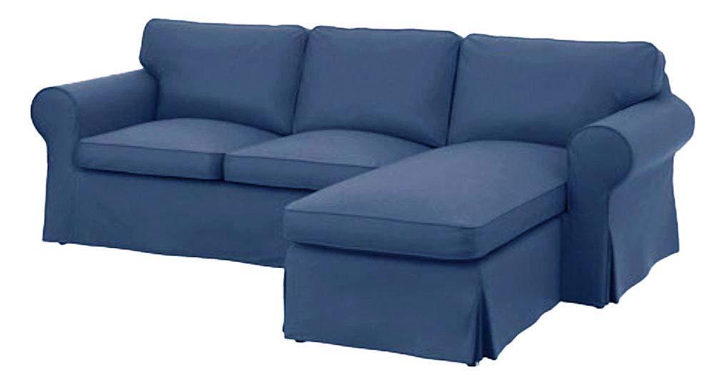 The Dense Cotton Ektorp 2人掛けラブシート(2人掛け)シェーズラウンジカバー交換用はIKEA Ektorp 2人掛けソファースリップカバー用にカスタムメイドされています  Heavy Cotton Blue B07R1M1VJY