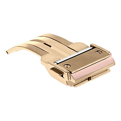 Ewatchparts 18MM Deployment Push Button Clasp Buckle Strap for HUBLOT Big Bang Watch Rose