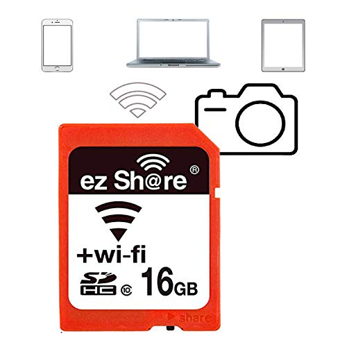 (16 GB ez Share WiFi SD Card Or Adapter WiFi SDHC Card Class10 SD Card Wireless Camera Memory Card)