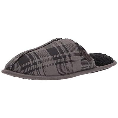 Dearfoams Men's Plaid MFS Scuff W Stitch   Slippers