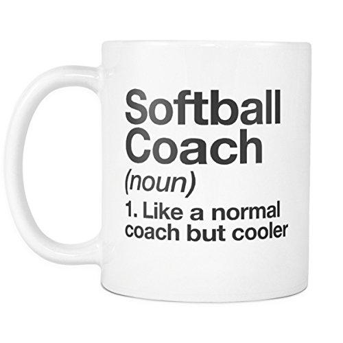 Softball Coach Funny Definition 11oz Coffee Mug – Trainer Gift Cup -