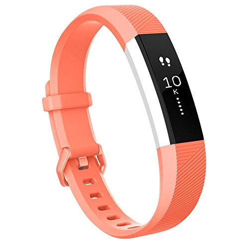 USASUNFACE Newest Fitbit Alta Bands - Silicone Band - Different Sizes Adjustable Replacement Wristband for Fitbit Alta HR and Fitbit Alta (large - orange)