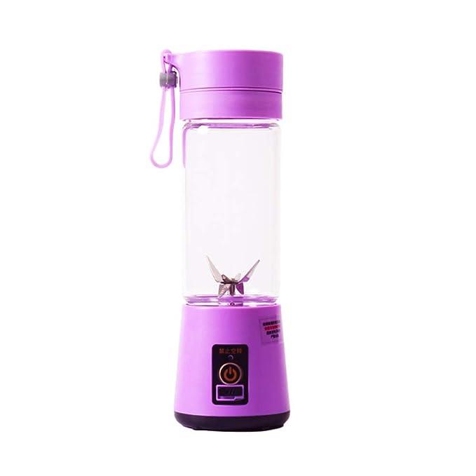 WGFGXQ Mini Portable Juicer/Electric Mixer, Multi-Function Household Fruit Juicer, Suitable Outdoor Travel,Purple,6Leaves