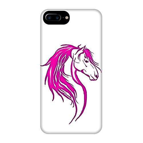Coque Apple Iphone 7+ - Tête cheval tribal Violet