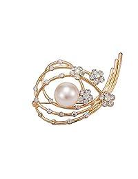 Pearl Broach Bridal Wedding Dress Decoration Rhinestone Fashion Jewelry Pin