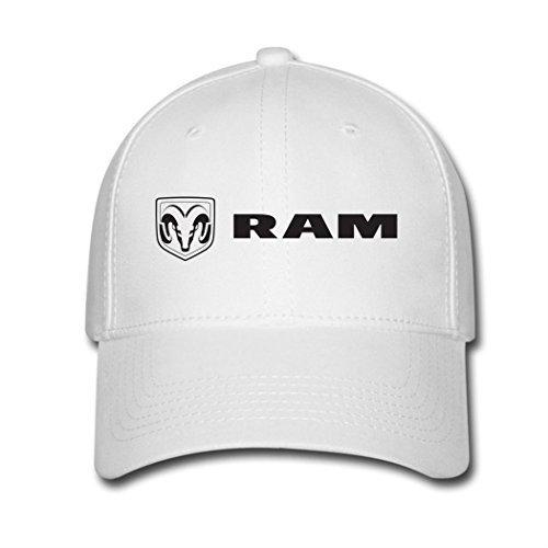 adjustable-dodge-ram-baseball-cap-running-cap-white