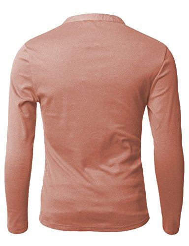 Doublju Mens Long Sleeve Slim Fit Henley Shirts In The Uae