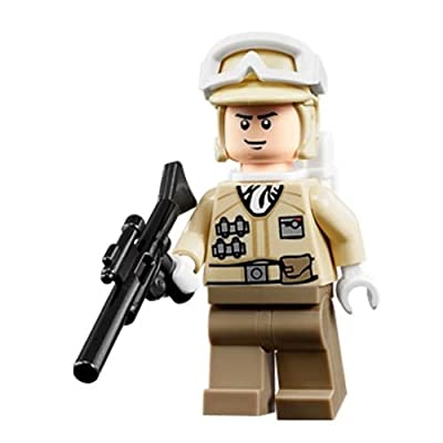 Lego Star Wars Minifigure: Hoth Rebel Trooper with blaster: Toys & Games