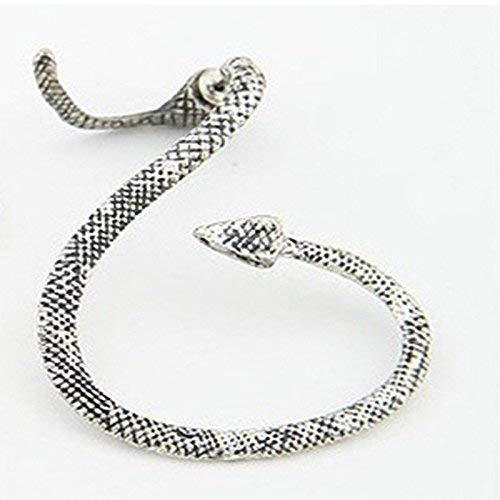 Sumanee Vintage Snake Wind Temptation Silver Ear Stud Gothic Punk Cuff Wrap Earrings JP (Studs Snake Ear)