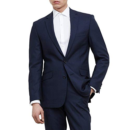 Kenneth Cole REACTION Men's Slim Fit Suit Separate (Blazer, Pant, and Vest), Blue, 40 (Mens Suit Separate Coat)