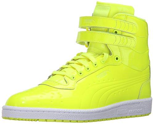 Puma Uomo Cielo Ii Hi Brevetto Imprima Moda Sneaker Giallo Sicurezza