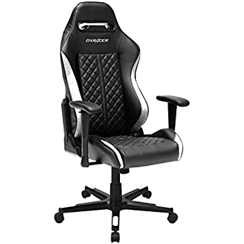DXRacer Drifting Series DOH/DF73/NW Newedge Edition Racing Bucket Seat Office Chair Gaming Chair Ergonomic Computer Chair eSports Desk Chair Executive Chair Furniture With Pillows (Black/White)