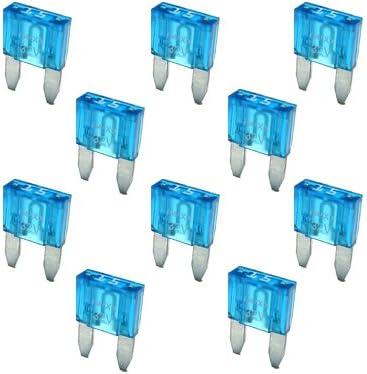 10 Flachstecksicherung Mini Sicherung 15a 32v Blau Auto