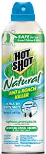 Hot Shot 95843 Natural Ant & Roach Killer Aerosol, 14-Ounce