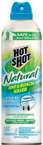 Hot Shot 95843 Natural Ant & Roach Killer Aerosol, 14-Ounce