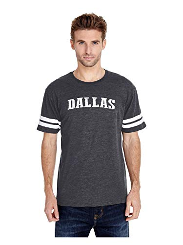 Mom`s Favorite Texas State Flag Proud Texan Dallas Traveler`s Gift Adult Unisex Football Fine Jersey Tee (SHNB) Heather Navy ()