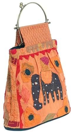 "Unique Vegan Handbag ""The Boo-Boo"" - Eco-Friendly Fabric Available in Dusty Orange"
