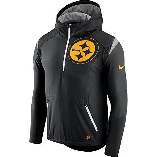 Nike Sideline Jacket (Nike Pittsburgh Steelers Black Sideline Fly Rush Half-Zip Pullover Jacket - Men's Large)