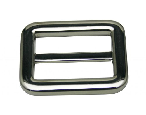 Generic Metal Silvery Rectangle Buckle with Fixed Bar 1.25