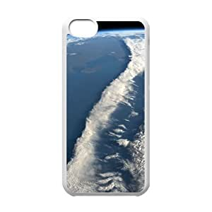 ZLGU(RM) Iphone 5C Case with Beautiful Clouds From Space Personalized Case, Unique Design Cover Case