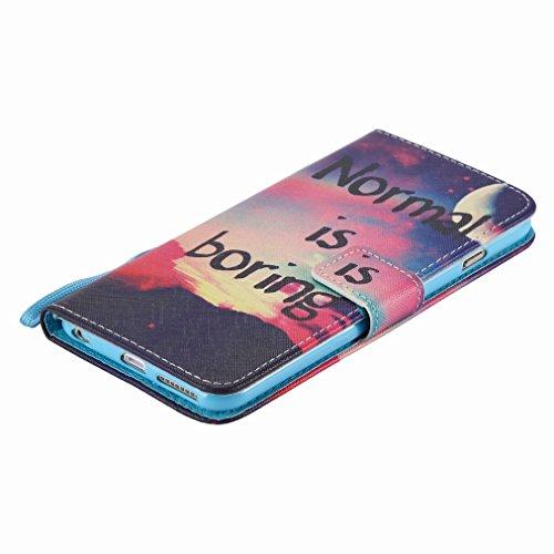 Custodia Apple iphone 6 Plus / 6s Plus (5.5) Cover Case, Ougger Girl Style Portafoglio PU Pelle Magnetico Stand Morbido Silicone Flip Bumper Protettivo Gomma Shell Borsa Custodie con Slot per Schede M