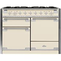 AGA AEL48DF Elise Series 48 Inch Wide 6 Cu. Ft. Slide In Dual Fuel Range with Gl, Ivory