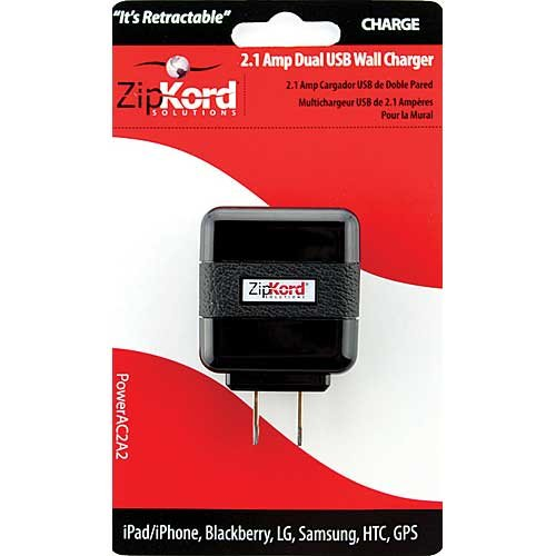 ZIPKORD POWERAC2A2 2 Amp Dual Charger