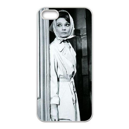 Audrey Hepburn coque iPhone 4 4S Housse Blanc téléphone portable couverture de cas coque EBDOBCKCO13260