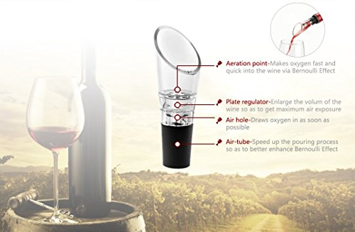 Wine Saver Preserver Vacuum Pump with Wine Aerator/Pouring Spout and 3 Vacuum Bottle Stoppers to Save Fresh by Winer Life (Image #3)