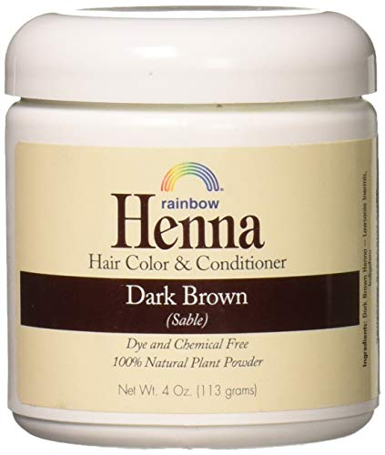 Rainbow Research Henna Hair Color and Conditioner Persian Dark Brown Sable - 4 oz (Henna Hair Dye For African American Hair)