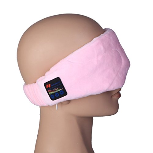 CEStore Soft Velvet Wearable Travel Sleep Eye Mask with Wireless Bluetooth Stereo Music Player Headset Support Handsfree & Mic for Home Use / Work Breaks / Business Out / Outdoor (The Player Mask)